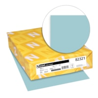 Neenah Exact Vellum Bristol Cover Stock Paper, Blue, Letter Size, Ream