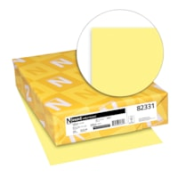 Neenah Exact Vellum Bristol Cover Stock Paper, Yellow Letter Size, Ream