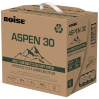 Boise Aspen 30 Multi-Use Recycled Copy with SPLOX Speed Loading Box, FSC Certified, 20 lb., 8 1/2