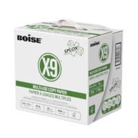 Boise X-9 Multi-Use Copy Paper with SPLOX Speed Loading Box, FSC Certified, 20 lb., 8 1/2