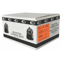 Eco II Manufacturing Inc. Black Industrial Garbage Bags, Regular, 42