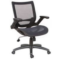 TygerClaw Office Chair, Mid-Back, Black, Mesh