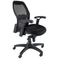 Safco Mercado Ergonomic Desk Task Chair, Black, Fabric/Mesh