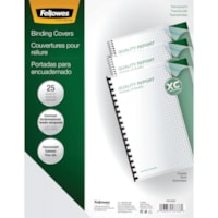 Fellowes Frosted Oversize Presentation Binding Covers With Rounded Corners