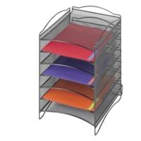 Range-tout de bureau empilable en mailles à 6 compartiments Onyx Safco