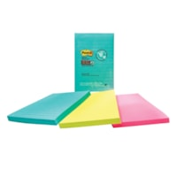 Post-it Super Sticky Notes in Miami Colour Collection, Lined, 4