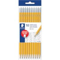 Staedtler Pre-Sharpened Polymer Graphite Pencils, HB #2, Yellow, 10/PK
