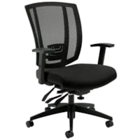 Offices to Go Avro Mid-Back Multi-Tilter Chair, Black Coal, Urban Fabric Seat and Mesh Back