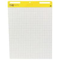 Tablette de feuilles autocollantes en format chevalet blanc Post-it, emballage de 2 pochettes