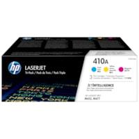 HP 410A Cyan, Magenta, Yellow Standard Yield Toner Cartridges, 3/PK (CF251AM)