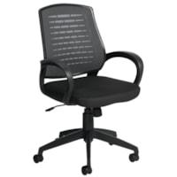 Fauteuil inclinable à dossier haut Java Offices To Go, coquille arrière durable, noir, assisse en tissu et dossier en tissu maillé