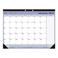 Blueline 12-Month Monthly Desk Pad/Wall Calendar