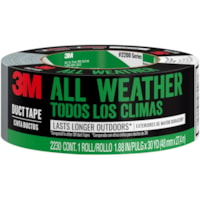 3M Heavy-Duty All Weather Duct Tape, Grey, 48 mm x 27.4 m