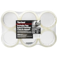 Tartan General Purpose Packaging Tape, Clear, 48 mm x 50 m, 6/PK