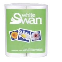 White Swan 2-Ply Professional Kitchen Towels, White, 80 Sheets/Roll, 2/PK