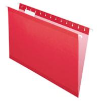 Pendaflex Premium Reinforced Hanging Folders, Red, Legal Size, 25/BX