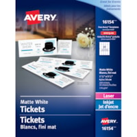 Avery Blank Printable Tickets with Tear-Away Stubs, White, 1 3/4