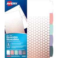 Avery Big Tab Reversible Dividers, Assorted Metallic Patterns, 5 Tabs/ST