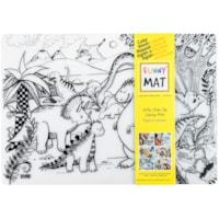 Funny Mat Reusable Table Top Colouring Mat, Jurassic/Dinosaur Theme, 18 9/10