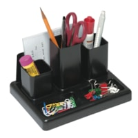 Victor 6-Section Desk Organizer with Note Pad Holder