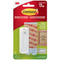 Crochet en dents de scie pour cadre Command, blanc, capacité 4 lb