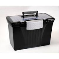 Storex Portable Black File Box