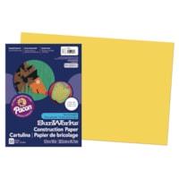 Papier de bricolage à haut grammage SunWorks Pacon, jaune, 12 po x 18 po, emb. de 50