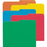 Smead File Folders with Reversible Tab, 1/2-Cut Printed Tab, Letter Size, Assorted, 50/PK