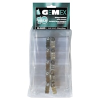 Gemex Top-loading Name Badge Holders With Clips, 2 1/4