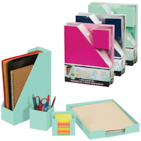 Merangue 4-Piece Desk Set, Assorted Colours (No Colour Choice On Delivered Orders)
