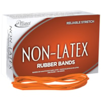 Bandes élastiques sans latex Alliance, nº 117, orange, boîte de 1 lb