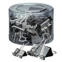 Acco Presentation Binder Clips, Silver Finish, Assorted Sizes, 30/PK