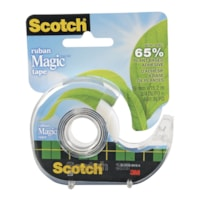 Scotch Magic Tape with Plant-Based Adhesive and Refillable Dispenser
