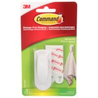 Pince à ressort pour usage intérieur Command, blanc, format moyen, 1 pince et 2 bandes