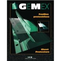 Protège-documents en vinyle de format lettre et grammage élevé à chargement latéral Gemex