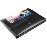 Avery Slide and View 5-Pocket Expanding File, Black, Letter Size