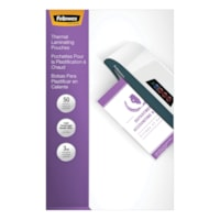 Fellowes Legal-Size Thermal Laminating Pouches, 3 mil, Pack of 50