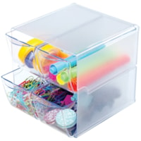 Deflecto Stackable 4-Drawer Storage Organizer