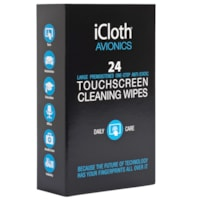 iCloth Pro-Grade Lens and Screen Cleaning Wipes, Individually Wrapped