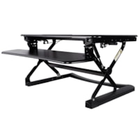 TygerClaw Ergonomic Sit-Stand Desktop Workstation, Black