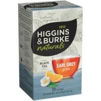 Higgins & Burke Naturals, Eary Grey Grove Black Tea, 20/Bx