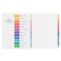 Avery Ready Index Table of Contents Dividers, Multi-Coloured, Numbered (1-12), Tabloid-Size, 12 Tabs/ST, 1 Set/PK