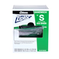 Ziploc Commercial Sandwich Bags, Clear, 6 1/2