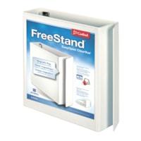 Reliure de format lettre (8 1/2 po x 11 po) à anneaux en « D » inclinés verrouillables FreeStand ClearVue EasyOpen Cardinal