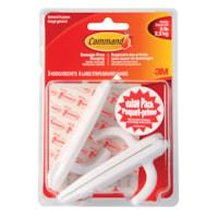 Command Adhesive Utility Hooks, Large, 5 lb Capacity, 3 hooks/6 strips