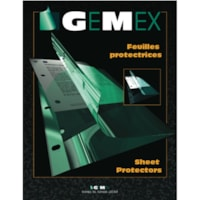 Gemex Clear Letter-Size Medium Weight Side-Load Polypropylene Sheet Protectors