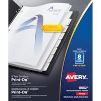 Intercalaires blancs imprimables de format lettre (8 1/2 po x 11 po) Print-On Avery