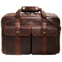 Mancini Double Compartment Briefcase for 15.6