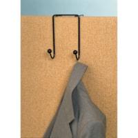 Crochet double en métal Westcott, noir
