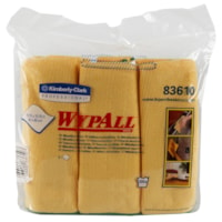 WypAll Microfibre General Purpose Cloths with Microban Protection, Gold, 6/PK